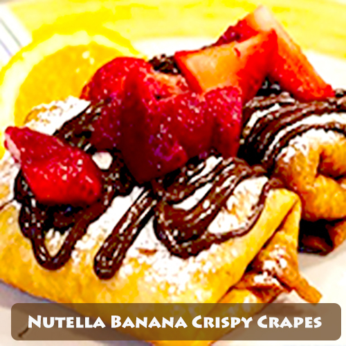 Nutella Banana Crispy Crapes