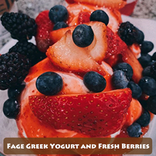 Fage Greek Yogurt with Fresh Berries